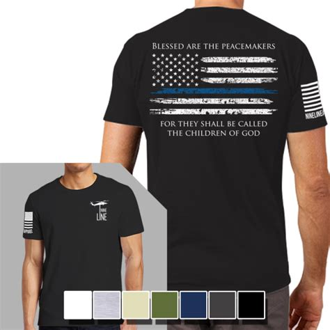 T Shirt Made In Chaos Blue nine line apparel thin blue line mens t shirt