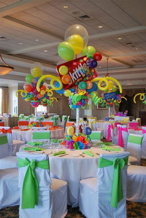 love themed events candy themed bat mitzvah event decor adult centerpieces