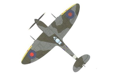 How To Make A Paper Spitfire - spitfire papercraftsquare free papercraft