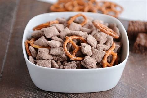 puppy chow variations brownie batter puppy chow or muddy buddies mel s kitchen cafe