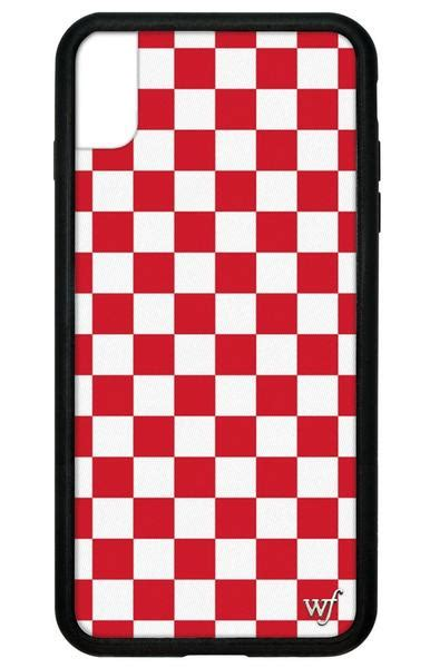 red checkers iphone xs max case wildflower cases