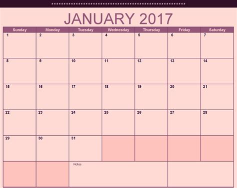 printable calendar 2017 no download 2016 pink printable calendar template 2016