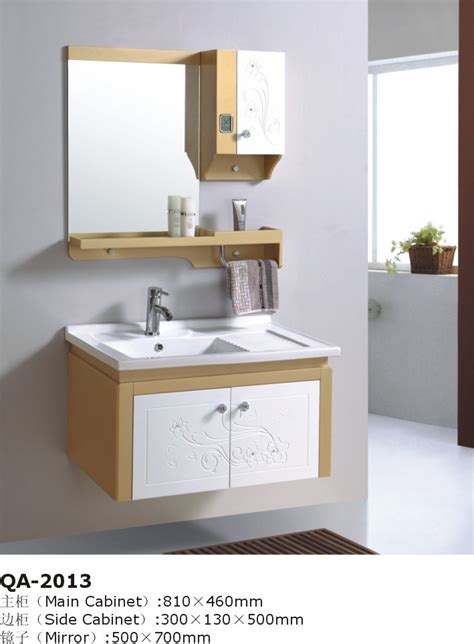 China 2012 Yellow White Bathroom Vanity Cabinet India