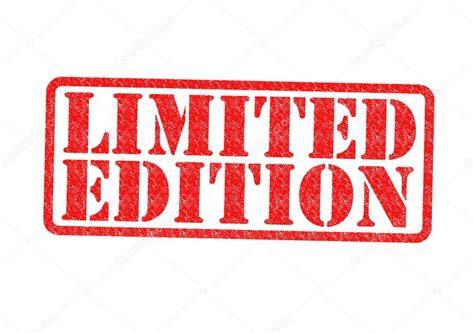 edicin limitada sello de goma de edici 243 n limitada foto de stock 169 chrisdorney 24047433
