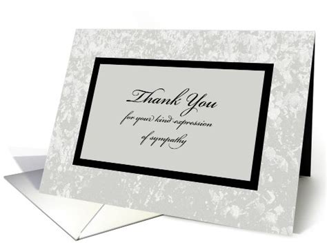 Thank You Notes For Sympathy Cards And Gifts - sympathy or funeral thank you card classic sympathy thank you card