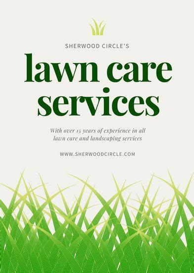 landscaping flyers templates green illustrated grass landscape flyer templates by canva