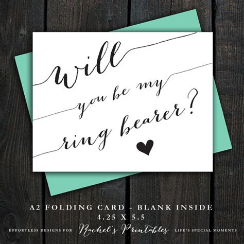 ring bearer card template will you be my ring bearer card printable quot will you be my