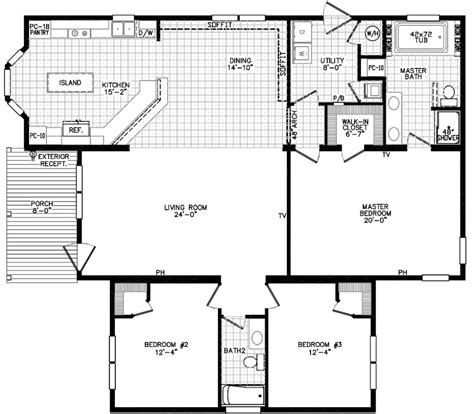 texas style floor plans the scarlett ranch style modular home floor plan