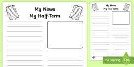 blank letter writing template english resource