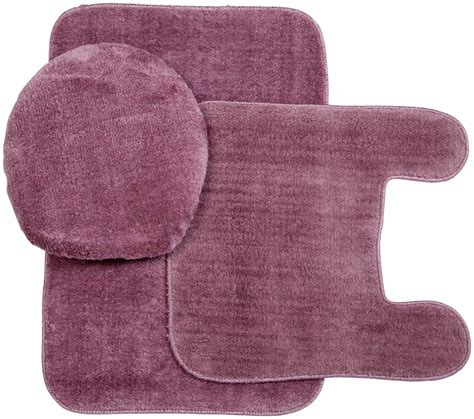 Plush Bathroom Rugs Kimball Plush Rug And Lid 3 Pc Bath Set