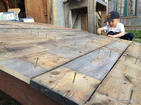 Build Shed Ramp Ledger Board Stringers And Ramp Decking