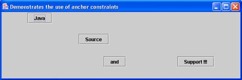 java layout constraints gridbaglayout with constraints gridbaglayout 171 swing jfc