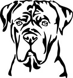 Free Coloring Pages Of Cane Corso sketch template