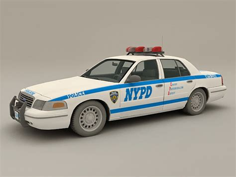 Nypd Police Car  Model Ds Max Files
