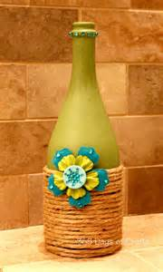 wine bottle home decor upcycled wine bottle home decor national craft month
