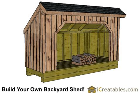 firewood shed plans diy wood bins easy  build wood