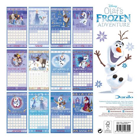 2018 disney frozen wall calendar mead disney frozen calendar 2018 calendar club uk