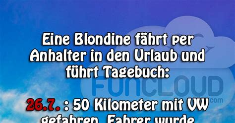 reise tagebuch einer blondine witze des tages 07 06 2016