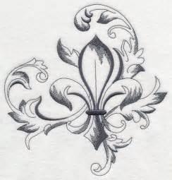 Fleur De Lis Bathroom Decor Machine Embroidery Designs At Embroidery Library