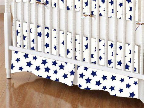 Navy And White Crib Skirt by Crib Skirt Primary Navy On White Woven Crib Skirts