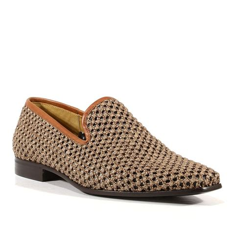 cesare paciotti mens shoes intrc rafia taupe woven canvas