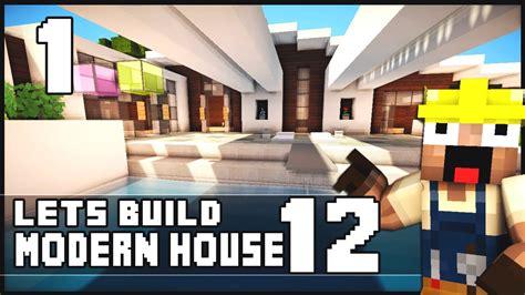 building ideas blog part 9 minecraft lets build modern house 12 part 1 youtube