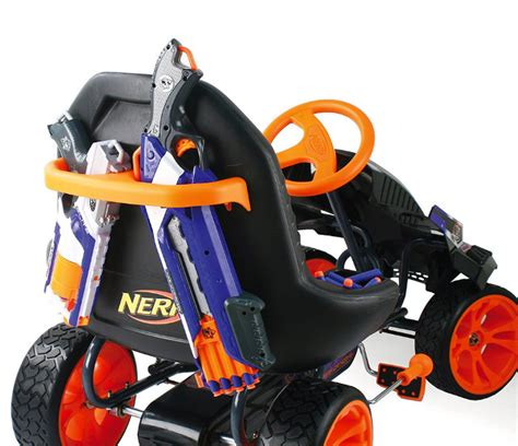 nerf car pew pew nerf pedal car for blasting on the go geekologie