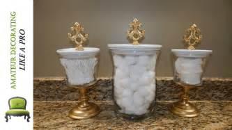 Bathroom Decor Vases Diy Bathroom Canisters Using Dollar Tree Dollar General
