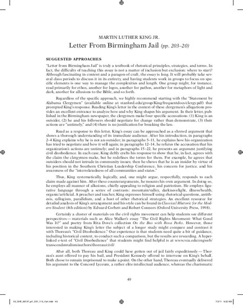 Martin Luther King I A Essay by Martin Luther King Letter From Birmingham Argument Essay Dgereport77 Web Fc2