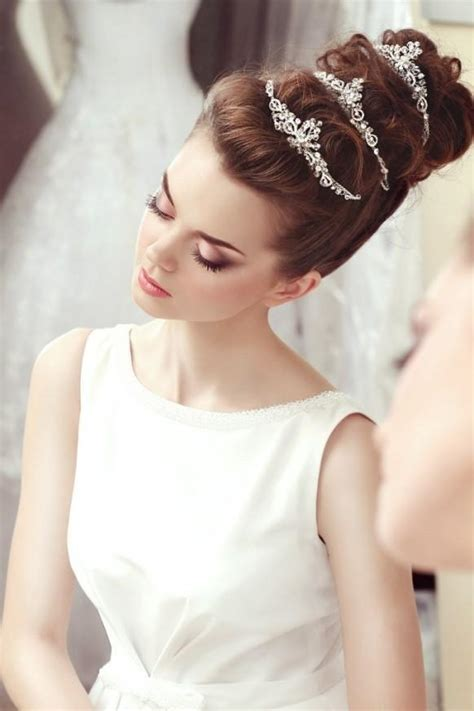 wedding up dos with a crown 40 best wedding hair styles for brides