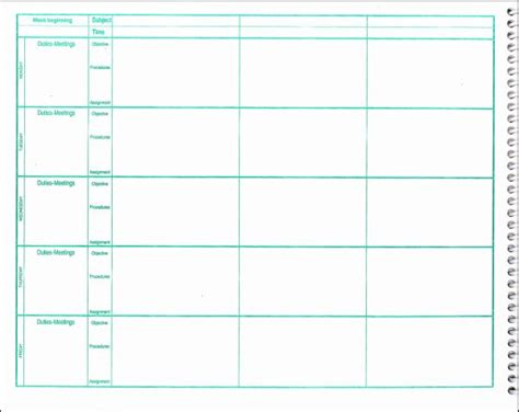 Lesson Plan Book Template by Planner Template Free Search Results Calendar 2015