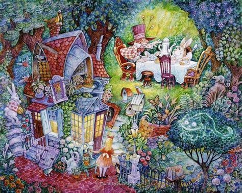 Alice In Wonderland Wall Murals alice in wonderland wall mural studio inspirations