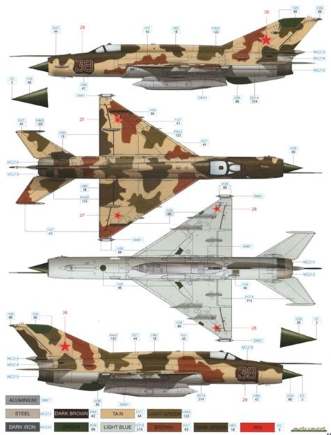 here is our color profile and paint guide for the mig 21r