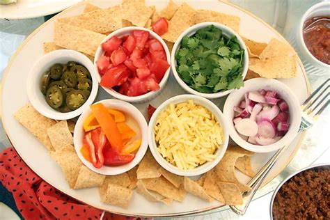 Toppings For Taco Bar by Grilled Romaine Taco Salad Bar Of Living