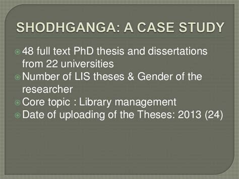 shodhganga phd thesis lis research and its availability in archives repositories