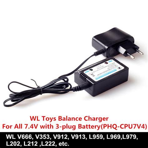Rc Car Wl L202 L959 L969 L979 Spare Part 3sets lot wl toys accessory balance charger for wl v666 v353 v913 v912 l959 l969 l202 rc