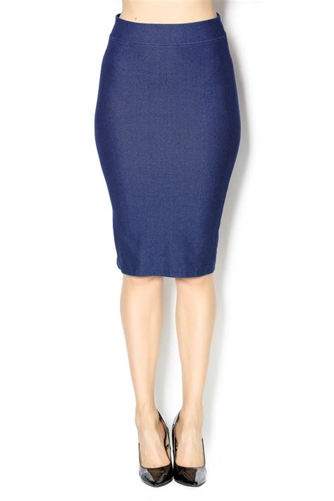 riki faux denim pencil skirt from new jersey by