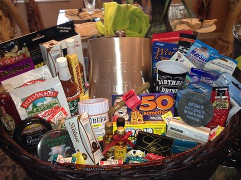 50th birthday gift basket for him 50th birthday gift