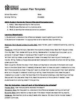 asca lesson plan template the world s catalog of ideas
