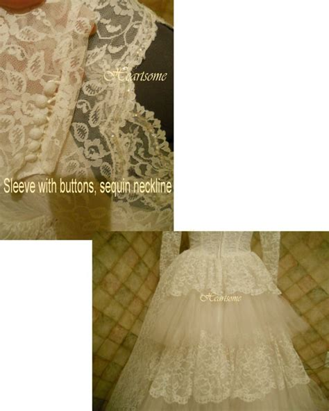 Vintage 50 S Wedding Dresses by Vintage 50 S Wedding Dress Gown Lace Tulle Tale