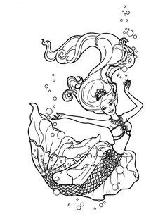 Desenhos de sereia para colorir, pintar, imprimir
