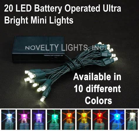 novelty lights 20 battery powered christmas led mini light