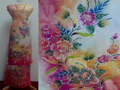 design batik lukis terkini batik sutera crepe lukis terkini mei 2013 batik sutera