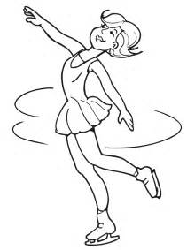 ice skater coloring page coloring pages