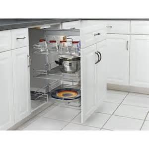 shop rev a shelf 8 875 in w x 26 38 in h metal 3 tier pull