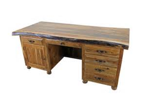 Tuscan furniture western wood executive writing desk mexican rustic