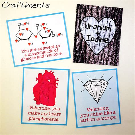 craftiments printable chemistry valentines some