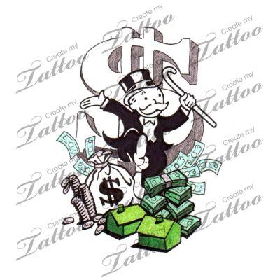 monopoly tattoo designs marketplace monopoly money 8037 createmytattoo