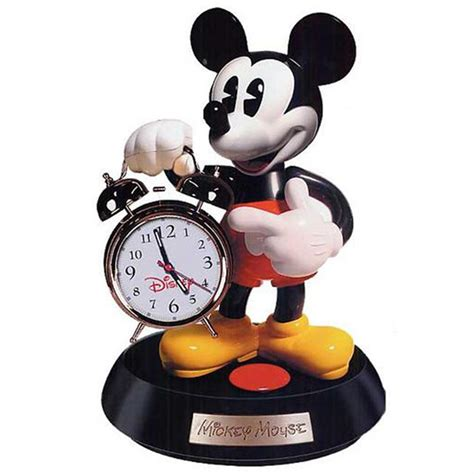 trademark mickey mouse talking animated alarm clock 126287 clocks at sportsman s guide