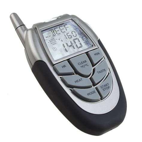 wireless digital bbq thermometer tester with probe thermometer and remote ed ebay